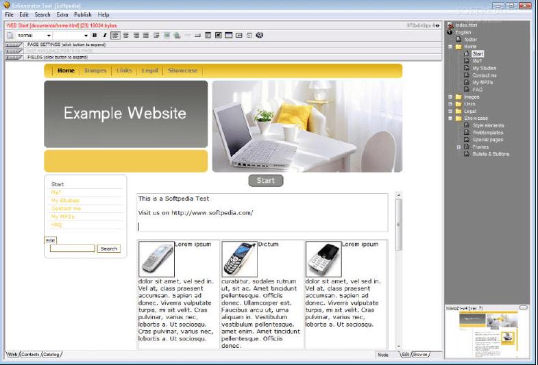 Phần mềm thiết kế website Ezgenertator