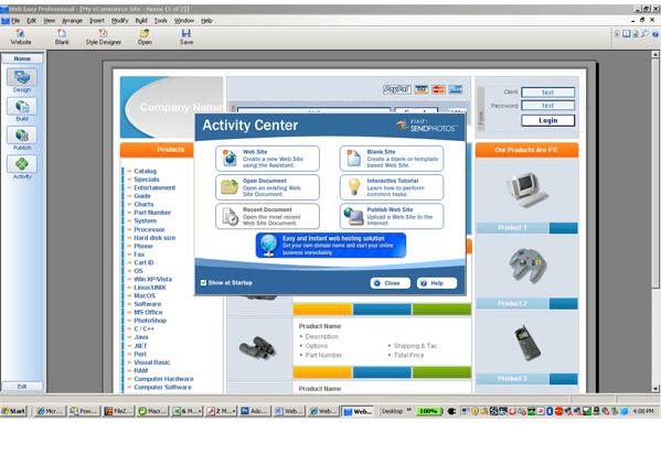 Phần mềm thiết kế website WebEasy Professional