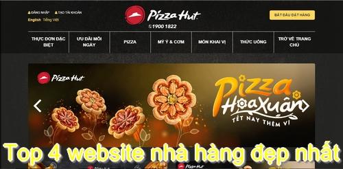 Top 4 website nhà hàng đẹp nhất