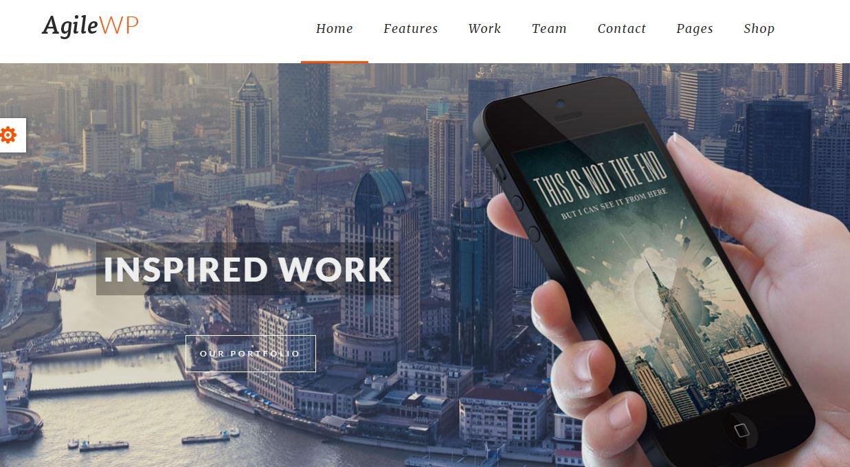 Đứng đầu trong những mẫu website giới thiệu app - Agile