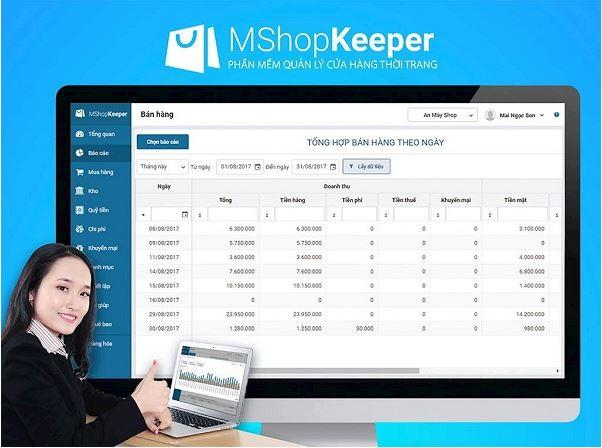 Phần mềm quản lý bán hàng MShopKeeper.