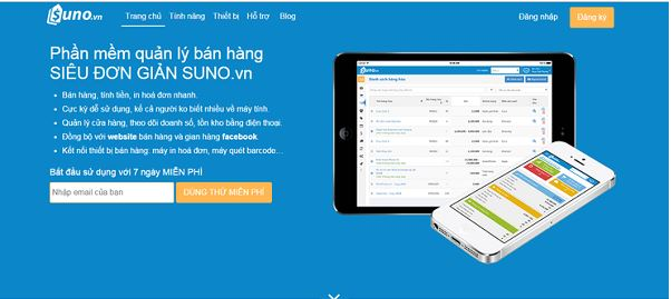 Phần mềm quản lý bán hàng do công ty Suno cung cấp.