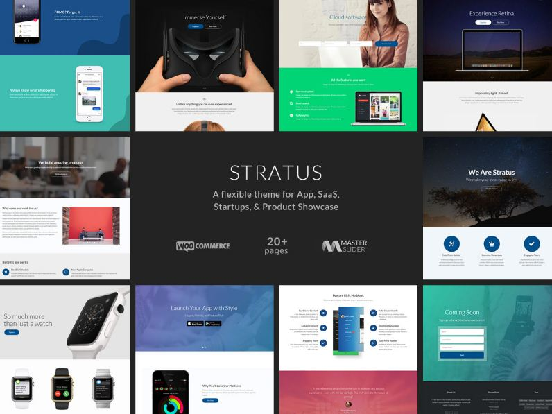 Mẫu website giới thiệu app điện thoại - Stratus