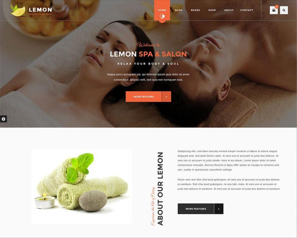 Mẫu thiết kế website spa Lemon