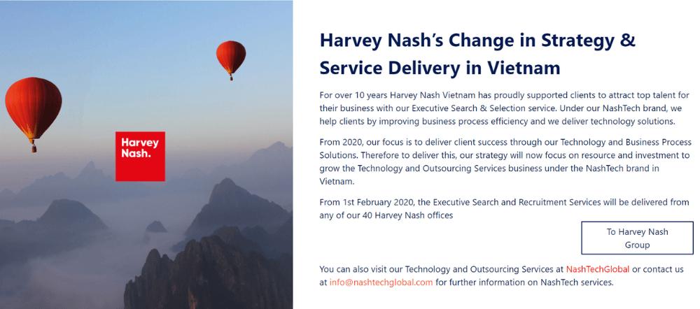 công ty thiết kế app mobile Harvey Nash